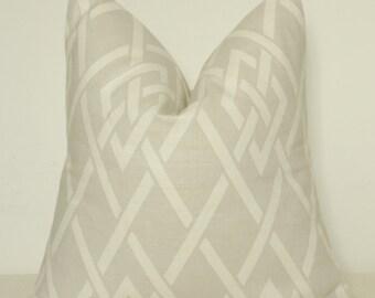 Pillow Cover, Decorative Pillow, Toss Pillow, Sofa Pillow, Throw Pillow, Taupe Frework, Taupe Lattice, Home Furnishing, Home Decor