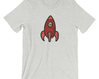 Handdrawn Red Rocket T-Shirt