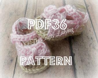 Baby peep toe booties pattern - PDF36 digital download