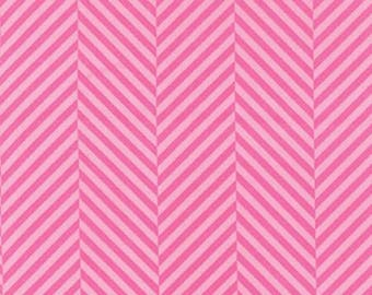 Dot Dot Dash, Tone on Tone Hot Pink Herringbone from Me & My Sister Designs, 22266 11, Moda Fabric, Sold by 1/2 Yard