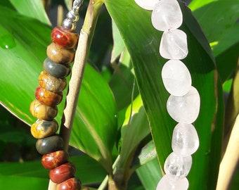 picacasso jasper and rose quartz bracelet