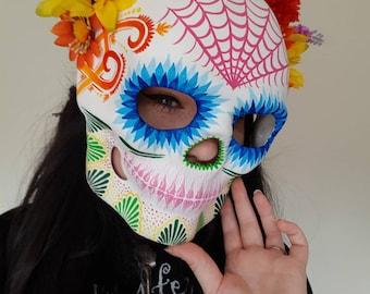 Hand painted sugar skull mask