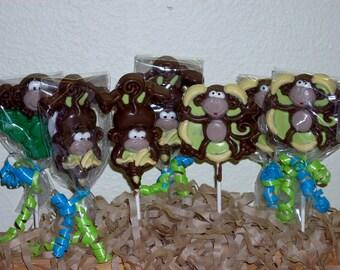 20 Jungle Monkey Lollipops