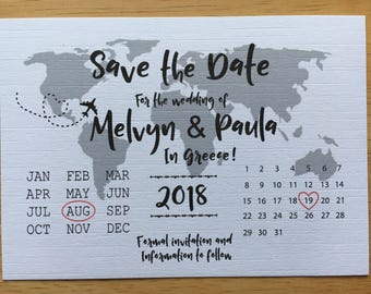 A6 save the date plus envelope x25