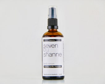 Serenity Body Serum / Body Oil - Lavender, Vanilla and Chamomile Infused //  Natural Vegan Skincare
