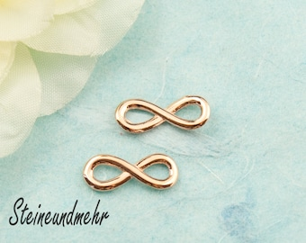 5x Infinity Eternity 15mm rosegold pl.  #3344