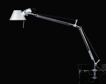 Vintage Artemide Tolomeo Mini Table Lamp Mid-Century Designer Lamp Artist Studio Lamp Industrial Adjustable Arm