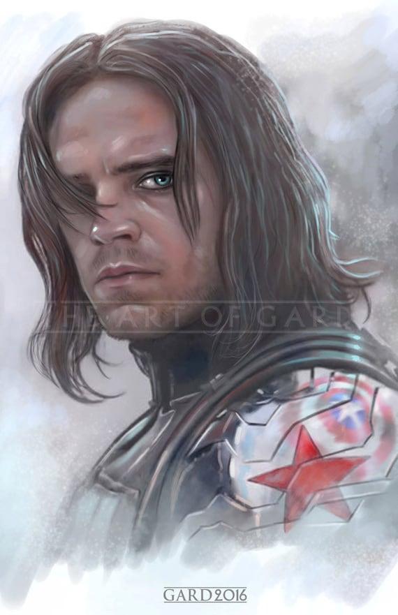 The Winter Soldier (Bucky) 11X17 Art Print