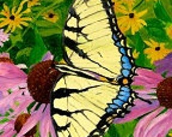 Tiger swallowtail butterfly print