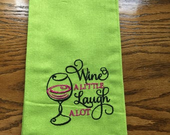 Embroidered Kitchen tea towel.
