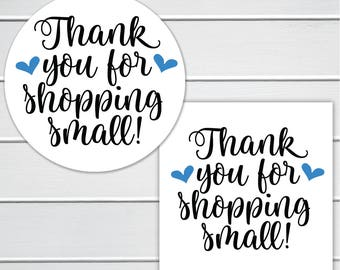 Thank You For Shopping Small! Small Business Handmade Branding Stickers/Labels (#567)