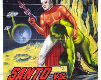 Santo - Lucha Libre movie poster print 11x17