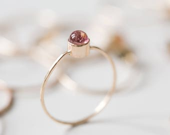 Tourmaline Ring | October Birthstone Ring | Stacking Ring |14K Gold Filled | Minimalist Ring | Dainty Ring | Love Ring | Gift For Her