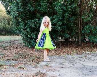 Seahawks twirl dress