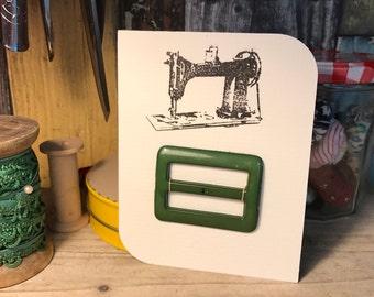 Retro green buckle