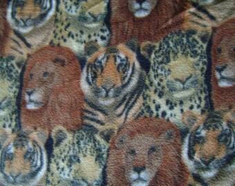Wild Cats Fleece Fabric ( 1 yard 18 inches)