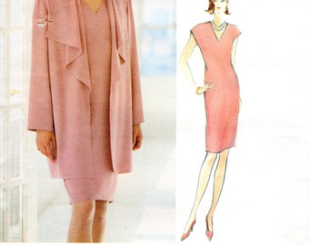 1990s Designer Vogue Dress and Jacket - Vintage Pattern designed by Tom & Linda Platt - Size 14 16 18 UNCUT FF