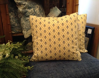 Gorgeous Custom Decorative Designer Pillows with French Country Floral Print - Three Available Each Sold Separately