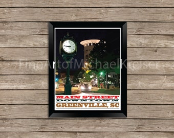 Main Street; Downtown Greenville, South Carolina