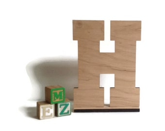 """Nursery Decor, wood Letters, Unfinished wood letters, 11"""" letters, standing letter, Wedding letters, DIY letter, Initial, kids room letter"""