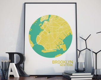 Brooklyn, New York City Map Print