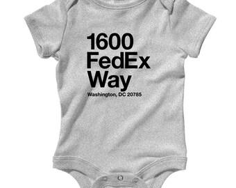 Baby Washington D.C. Football Stadium Romper - Infant One Piece, Creeper - NB 6m 12m 18m 24m - DC Shirt, Sports, Gift, Fan - 3 Colors
