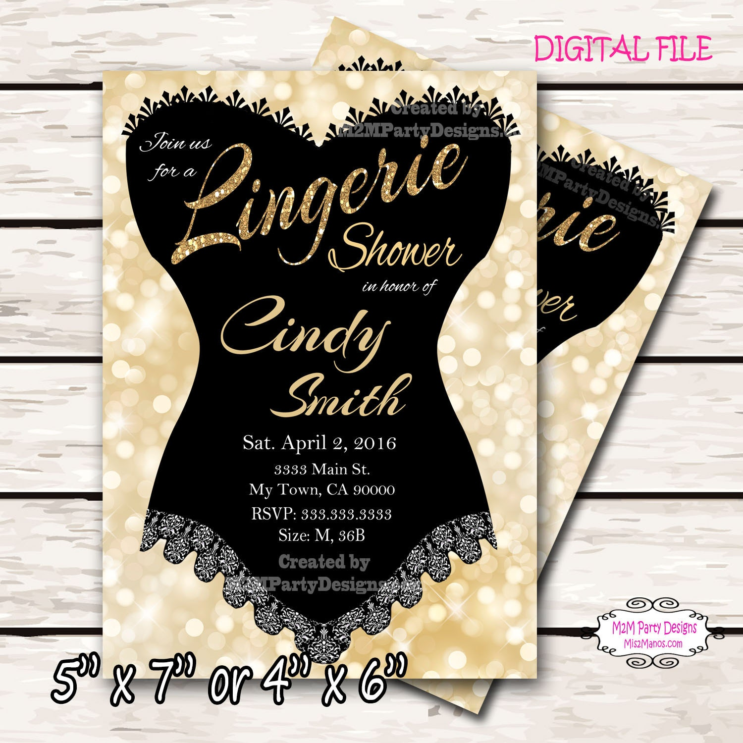 Lingerie shower invitation something sexy sweet chalkboard zoom monicamarmolfo Image collections