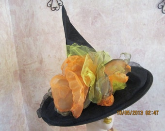 Fantasy Witch Hat - Organza Witch Hat - Fall Fantasy Witch Hat -