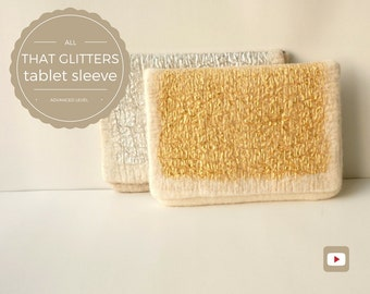 DIY - Video Tutorial All That Glitters Tablet Sleeve or Winter Clutch - Advanced level - 9 videos - Instant download