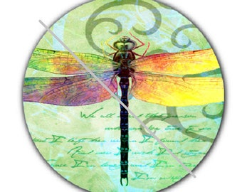 pretty cabochon 25mm, dragonfly, green