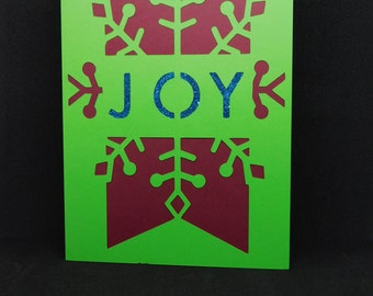 Glittery Joy Christmas Card
