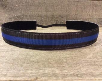 Back the Blue Police Nonslip Headband, Noslip Headband, Sports Headband, Running Headband, Athletic Headband