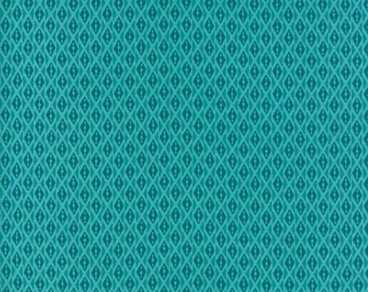Kate Spain Voyage Fabric by the Yard, Bomeo in Turquoise Blue, Moda Fabrics, 27288-21