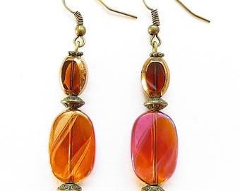 brown earrings hooks