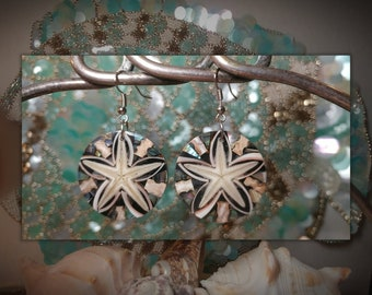 Handmade starfish seashell earings