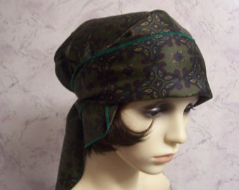 Beautiful Authentic Vintage Tricel Self Tie Bandanna Hat * Unused