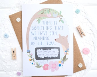 Baby Announcement Card - New Baby Scratchcard - Baby reveal - Expecting Card - Pregnancy Announcement - You're going to be grandparents