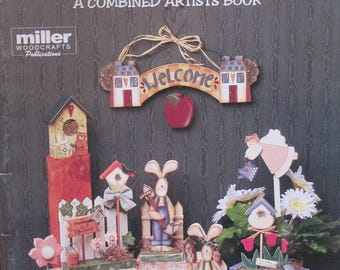 """Vintage Folk Art Decorative book """" Spring Into Summer"""" by Nancy Long  78 pages 1996 used book"""