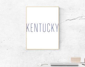 Kentucky Blue Print, Digital Print, Wildcats, Kentucky Art, University of Kentucky Art, Digital Download, SEC Art, Most Popular