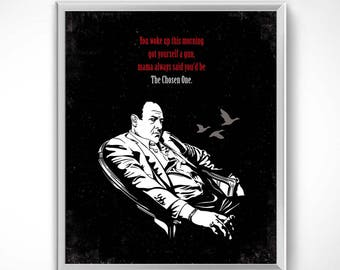 The Sopranos > Tony soprano 60x50 cm-Poster sheet HQ exclusive/exclusive poster High Quality Printing-HBO Series TV Bada Bing