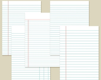 "5x7"" Planner Inserts Filofax Inserts Ledger Set 4 Printable INSTANT DOWNLOAD"