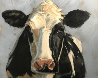 Cow Portrait Oil Painting on canvas