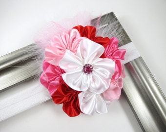 Headband - Pink Headband - Pink Red White Headband - Red Headband - OTT Headband - Toddler Child Teenager