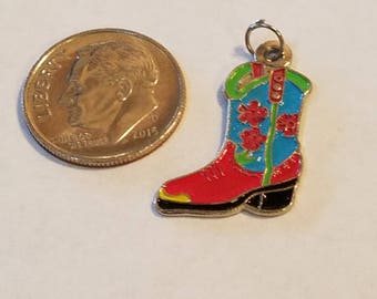 Cowboy boot charm, Cowgirl Boot Charm, Cowgirl Boot, Cowboy Boot, Boot Charm