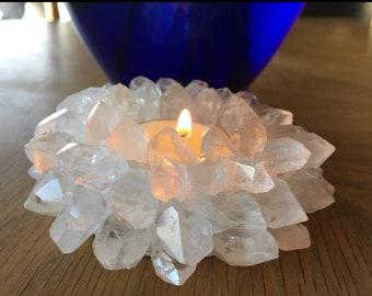 Quartz candleholder