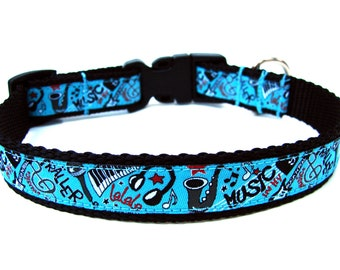 "Music Dog Collar 3/4"" Unique Dog Collar"