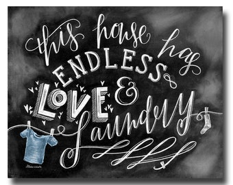 Laundry Room Decor, Laundry Room Sign, Laundry Room Art, Chalkboard Art, Chalkboard Sign, Chalk Art, Laundry, Home Decor