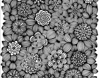 Mindfulness Coloring Pages Pdf : Garden coloring page etsy