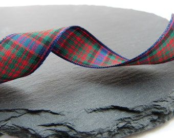 Macdonald Tartan Ribbon 16mm Wide Berisfords Per Metre