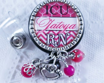 Badge, Nurse Badge Reel, Badge Reel, Nurse ER RN Badge Reel, Personalized Nurse Badge, Personalized RN Badge, Personalized Badge, Badge Reel